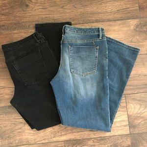 Mid Rise Straight Jeans Bundle Size 10 Short